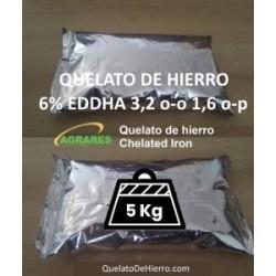 Quelato de hierro 7,5% EDDHA 3.6 o-o 1.2 o-p en 5Kg