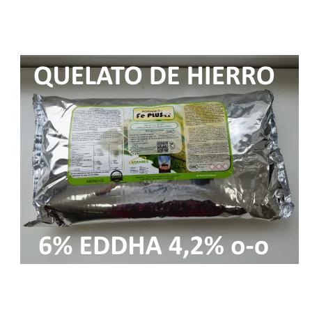 Quelato de hierro 6% EDDHA 4,2% o-o en 5Kg
