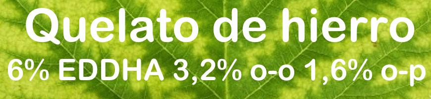 Quelato de hierro 6% EDDHA, 3,2% o-o 1,6% o-p